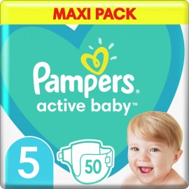 PAMPERS Active Baby Maxi No 5 (11-16Kg) 50pcs