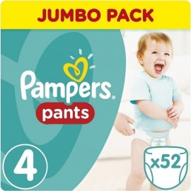 Pampers Jumbo Pack Pants No 4 (8-14kg) 52pcs