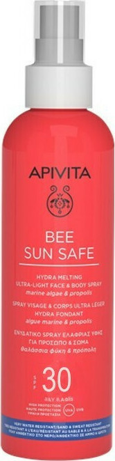 APIVITA Bee Sun Safe Hydra Melting Spray Ultra Ligero para Rostro y Cuerpo SPF30 200ml