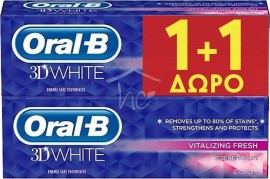 ORAL-B 3D White Vitalizing Fresh 1+1 2 x 75ml