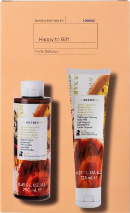 KORRES Bergamot Pear Showergel 250ml & Bergamot Pear Body Milk 125ml
