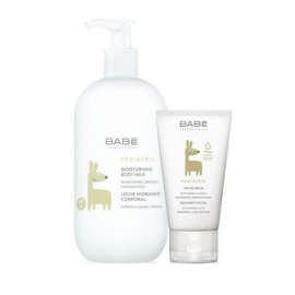 Babe Laboratorios Moisturizing Body Milk 500ml & Pediatric Facial Balm 50ml