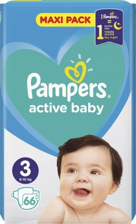 Pampers Active Baby No3 (6-10Kg) 66 uds.