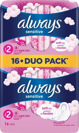 ALWAYS Sensitive Long Plus 16pcs