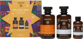 APIVITA Holly Jolly Treats Set, föryngrande schampo 250ml, Pure Jasmine 250ml och Mini Jasmine Emulsion 75ml