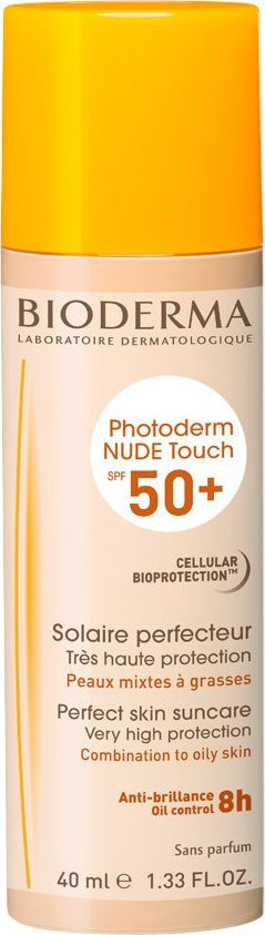 BIODERMA Nude Touch Combination To Oily Skin Natural SPF50 40ml