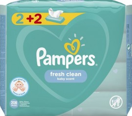 PAMPERS Fresh Clean 4x52pcs