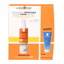 La Roche Posay Anthelios Invisible Set Anthelios Invisible Shaka Spray Ultra Protection Spf30 +, 200ml y Lipikar Gel Lavant para pieles sensibles 100ml