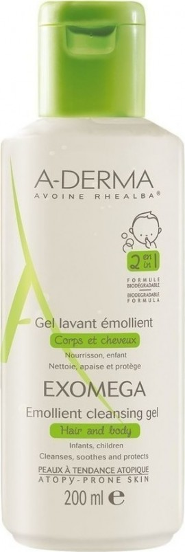 A-DERMA Exomega Emollient Cleansing Gel 200ml