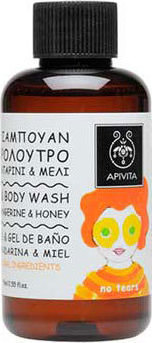 APIVITA Kids Shampoo & Shower Gel with Tangerine & Honey 75ml