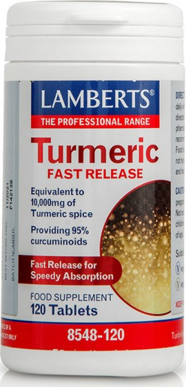 LAMBERTS Turmeric Fast Release 200mg Equivalent to 10.000mg 120 κάψουλες