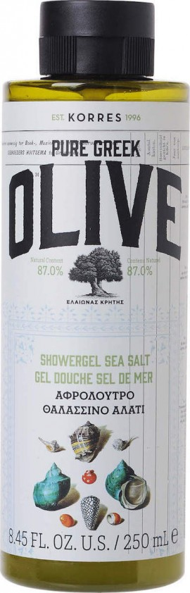 KORRES Olive Shower Gel Sea Salt 250ml