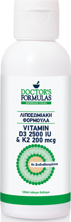 DOCTORS FORMULAS Vitamin D3 2500iu & K2 200mcg 120ml