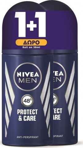 NIVEA - 1 + 1 presentdeodorant Roll-On Protect & Care 48h 50ml
