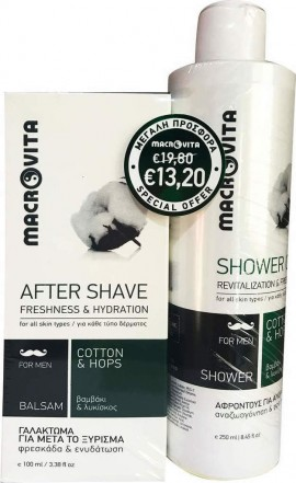 MACROVITA After Shave Freshness & Hydration 100ml & Gift Gel de ducha Revitalization & Freshness 250ml