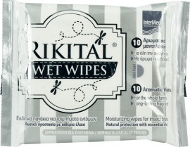 INTERMED Rikital Wet Wipes Pack 10τμχ