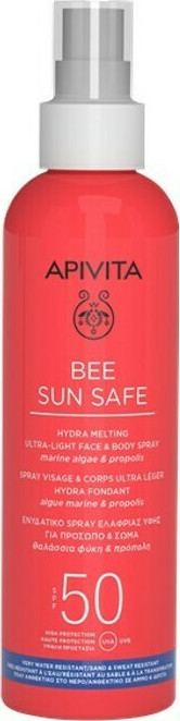 APIVITA Bee Sun Safe Hydra Melting Spray Ultra Ligero para Rostro y Cuerpo SPF50 200ml