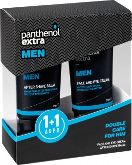 PANTHENOL EXTRA MEN Face and Eye Cream 75ml & After Shave Balm 75ml