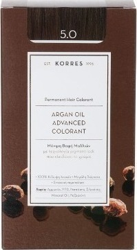 KORRES Argan Oil Advanced Colorant 5.0 Castaño natural claro