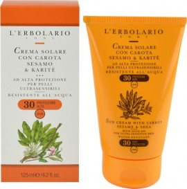 L ERBOLARIO Sun Cream With Carrot Sesame & Shea SPF30 125ml