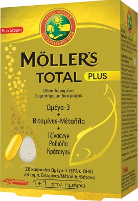 MOLLERS Total Plus 28 tabletter 28 kapslar