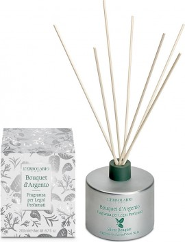 L Erbolario Aromatic Space with Sticks Bouquet dArgento 200ml