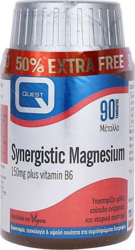 QUEST SYNERGISTIC Magnesium (+50%) 90 Ταμπλέτες