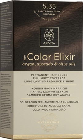 APIVITA My Color Elixir 5.35 Marrón Miel caoba clara