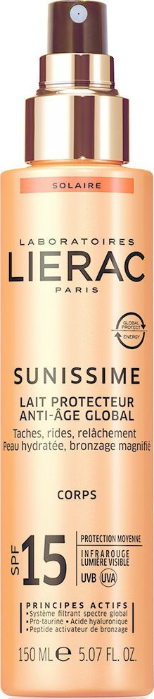 Lierac Sunissime Lait Protecteur Anti-Age Global SPF15 150ml