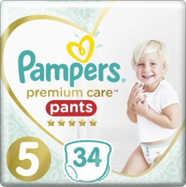 PAMPERS Premium Care Pants No 5 (12-17Kg) 34pcs