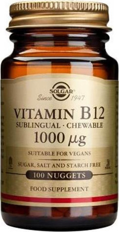 SOLGAR Vit B-12 1000mg Nuggets 100s