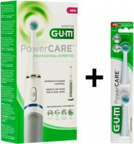 GUM Powercare Sensitive 4200 & Spare Heads 2 pcs