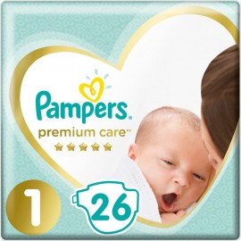 PAMPERS Premium Care No.1 (2-5 kg) 26Pcs