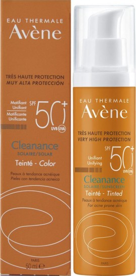 AVENE Cleanance Very High Protection Unifying Tinted Sunscreen SPF50 + 50ml