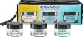 GALENIC Set SOS Perfect Skin Masks For Beauty Cold Purifying Mask 15ml + Galenic Masks For Beauty Warming Detox Mask 15ml + Galenic Masks For Beauties Quenching Hydrating Mask 15ml