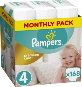 Pampers Premium Care Monthly Box No 4 (8-14Kg) 168 τμχ