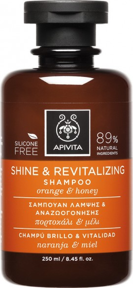 APIVITA Shine & Revitalizing Shampoo with Orange And Honey 250ml