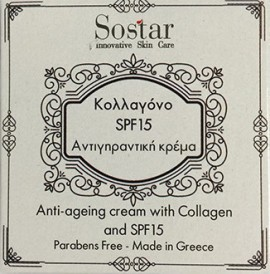 SOSTAR Anti-Aging Cream med kollagen SPF15 50ml