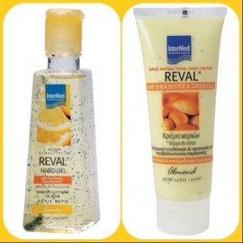 INTERMED Reval Hand gel Lemon 100ml + Reval Daily Antibacterial Hand Cream Almond 75ml