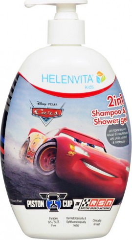 HELENVITA Kids Cars 2 In 1 Shampoo & Shower Gel 500ml