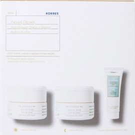 KORRES White Pine Very Dry Day Cream 40ml & Night Cream 40ml & Olympus Tea Cleansing Emulsion 3 In 1 16ml