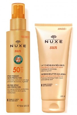 NUXE Sun Melting Spray High Protection SPF50 Face & Body 150ml (αντηλιακό Γαλάκτωμα Spray για Πρόσωπο & Σώμα) + Δωρο After Sun 100ml