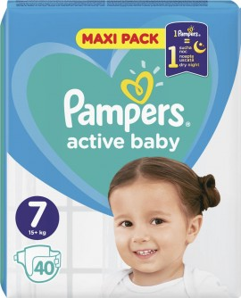 Pampers Active Baby Maxi No 7 (15 + kg) 40pcs