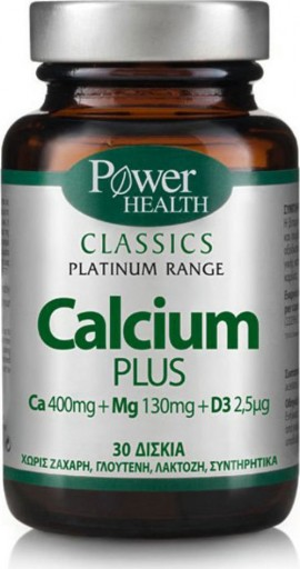 POWER HEALTH Classics Platinum Calcium Plus 30 tablets