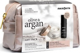 MACROVITA Gift Pack Olive & Argan Multi-effective Pollution & Age Defense Hyaluronic Acid Cream 50ml & GIFT Lifting Serum 30ml