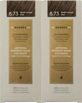 KORRES Abyssinia Colorante Brillo Superior 8.73 Rubio Claro Miel 2 x 50ml