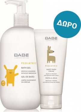 Babe Laboratorios Pediatric Bath Gel 500ml + Nappy Rash Cream 100ml