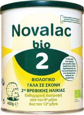 NOVALAC Milk in Bio Powder 2 6m + 400gr