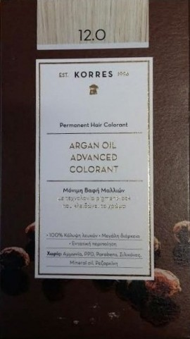 KORRES ARGAN OIL ADVANCED COLOTANT 12.0