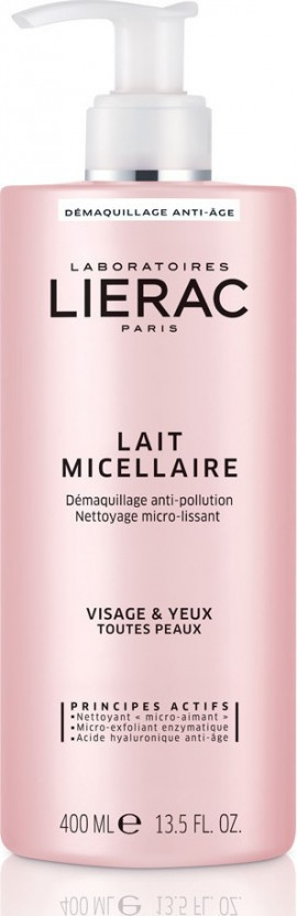 Lierac Demaquillant Lait Micellaire Anti-Aging Cleansing Micellar Milk for All Skin Types 400ml
